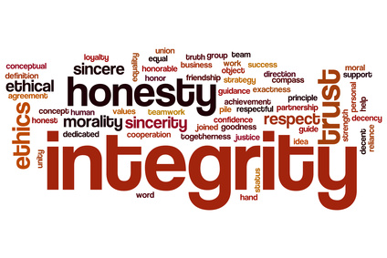 We have only our integrity…