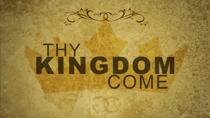 In our Home, and in our Family, Thy Kingdom Come